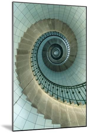 Looking Up the Spiral Staircase of the Lighthouse-Design Pics Inc-Mounted Premium Photographic Print