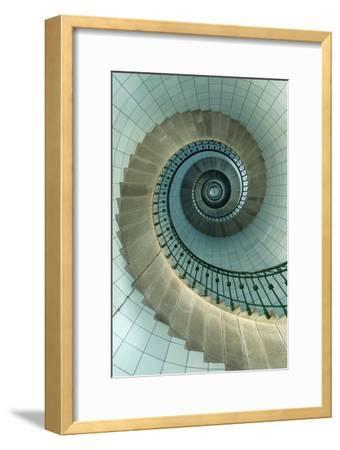 Looking Up the Spiral Staircase of the Lighthouse-Design Pics Inc-Framed Photographic Print