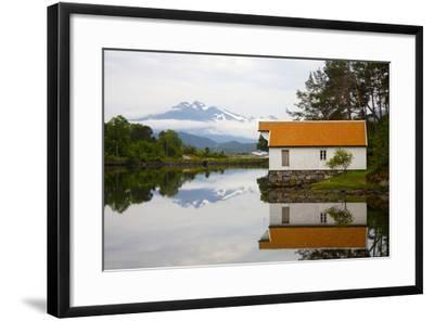 Open-Air Museum, Cottage Reflecting in Lake-Design Pics Inc-Framed Photographic Print