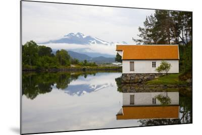 Open-Air Museum, Cottage Reflecting in Lake-Design Pics Inc-Mounted Photographic Print