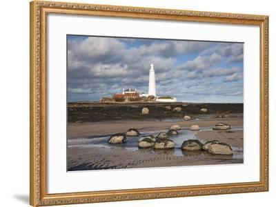 Lighthouse, Northumberland, England-Design Pics Inc-Framed Photographic Print