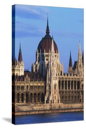 Parliament Buildings on River Danube-Design Pics Inc-Stretched Canvas Print