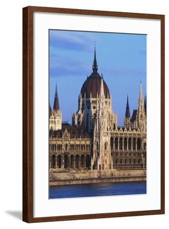 Parliament Buildings on River Danube-Design Pics Inc-Framed Photographic Print