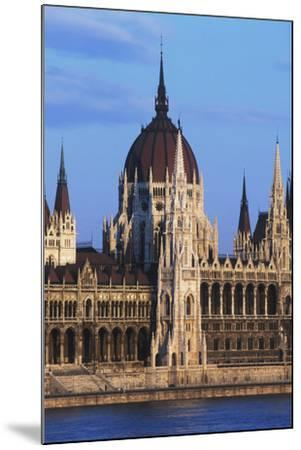 Parliament Buildings on River Danube-Design Pics Inc-Mounted Photographic Print