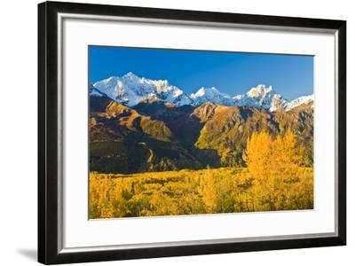Scenic View of Chugach Mountains Along Matanuska Valley in Southcentral Alaska During Fall-Design Pics Inc-Framed Photographic Print