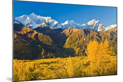 Scenic View of Chugach Mountains Along Matanuska Valley in Southcentral Alaska During Fall-Design Pics Inc-Mounted Photographic Print