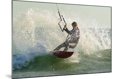 Man Kitesurfing; Costa De La Luz,Andalusia,Spain-Design Pics Inc-Mounted Photographic Print