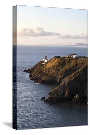 A Lighthouse on a Hill; Ireland-Design Pics Inc-Stretched Canvas Print