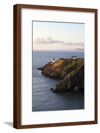 A Lighthouse on a Hill; Ireland-Design Pics Inc-Framed Photographic Print