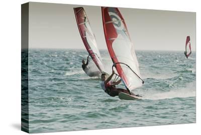 Windsurfing; Tarifa Cadiz Andalusia Spain-Design Pics Inc-Stretched Canvas Print