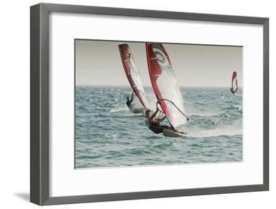 Windsurfing; Tarifa Cadiz Andalusia Spain-Design Pics Inc-Framed Photographic Print
