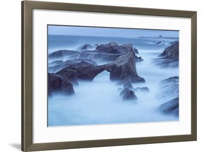 The Eroded Coastline of Stornetta Public Lands North of the Town of Point Arena-Michael Melford-Framed Photographic Print