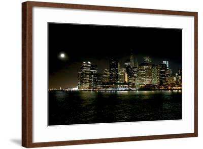 The New York City Skyline Lights Up a December Night-Robbie George-Framed Photographic Print