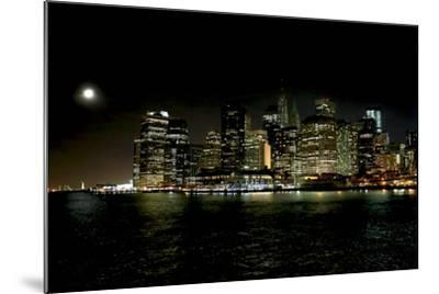 The New York City Skyline Lights Up a December Night-Robbie George-Mounted Photographic Print