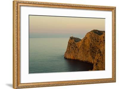 Views of the Lighthouse at Sunset-Design Pics Inc-Framed Photographic Print