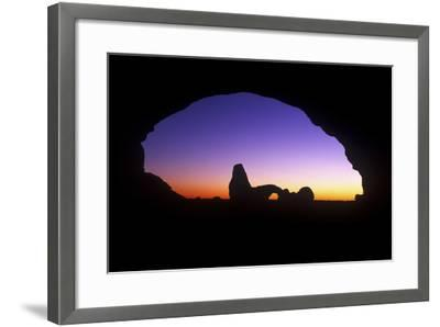 A View of North Window Arch Framing Turett Arch in Arches National Park, Utah-Keith Ladzinski-Framed Photographic Print