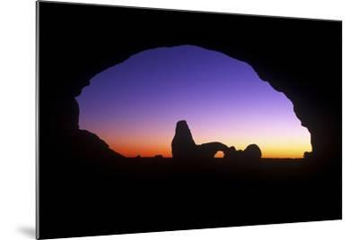 A View of North Window Arch Framing Turett Arch in Arches National Park, Utah-Keith Ladzinski-Mounted Photographic Print