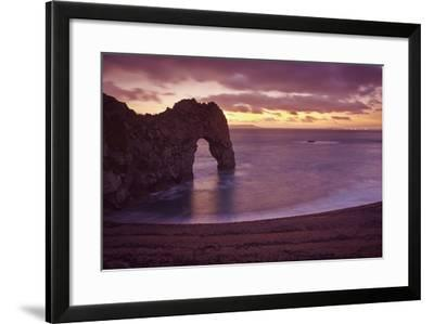 The Durdle Door Rock Arch at Dusk-Nigel Hicks-Framed Photographic Print