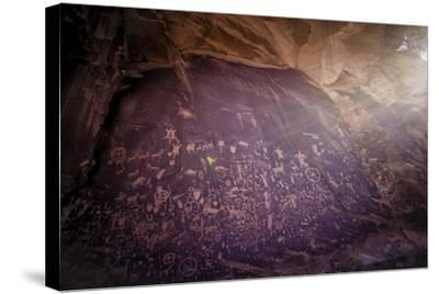 Petroglyphs on Newspaper Rock in Utah-Keith Ladzinski-Stretched Canvas Print