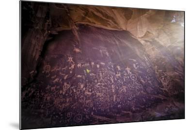 Petroglyphs on Newspaper Rock in Utah-Keith Ladzinski-Mounted Photographic Print