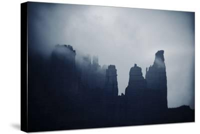 Fisher Towers in Fog, Utah-Keith Ladzinski-Stretched Canvas Print