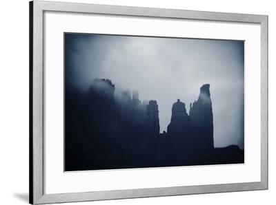 Fisher Towers in Fog, Utah-Keith Ladzinski-Framed Photographic Print