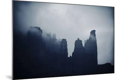 Fisher Towers in Fog, Utah-Keith Ladzinski-Mounted Photographic Print