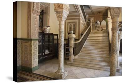 The Entryway to the Restaurant Palacio De Valle in the Punta Gorda Section of Cienfuegos-Michael Lewis-Stretched Canvas Print