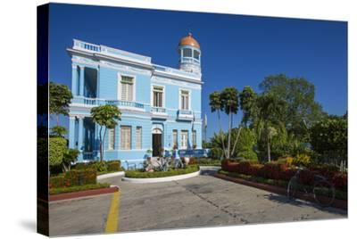 The Colorful Hostal Palacio Azul in the Punta Gorda Section of Cienfuegos-Michael Lewis-Stretched Canvas Print