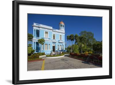 The Colorful Hostal Palacio Azul in the Punta Gorda Section of Cienfuegos-Michael Lewis-Framed Photographic Print