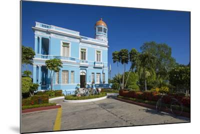 The Colorful Hostal Palacio Azul in the Punta Gorda Section of Cienfuegos-Michael Lewis-Mounted Photographic Print