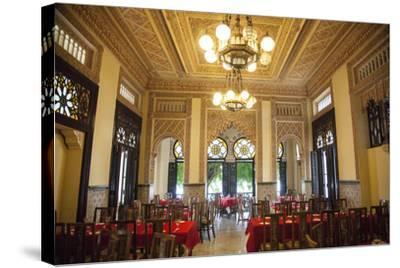 The Restaurant Palacio De Valle in the Punta Gorda Section of Cienfuegos-Michael Lewis-Stretched Canvas Print