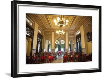 The Restaurant Palacio De Valle in the Punta Gorda Section of Cienfuegos-Michael Lewis-Framed Photographic Print