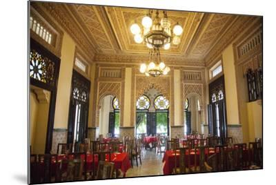 The Restaurant Palacio De Valle in the Punta Gorda Section of Cienfuegos-Michael Lewis-Mounted Photographic Print