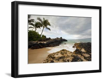 Hawaii, Maui, Makena Cove, Tropical Beach and Palm Trees-Design Pics Inc-Framed Photographic Print