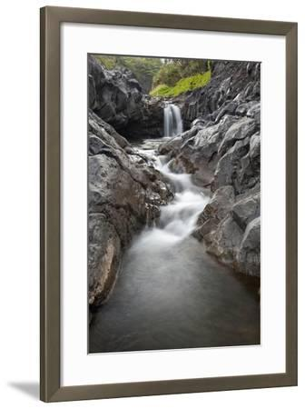 Hawaii, Maui, Hana, Seven Sacred Pools Waterfalls-Design Pics Inc-Framed Photographic Print