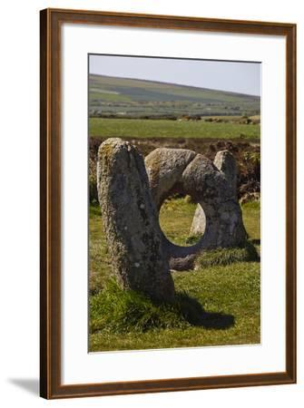 The Prehistoric Men-An-Tol, Near Penzance, Cornwall, Great Britain-Nigel Hicks-Framed Photographic Print