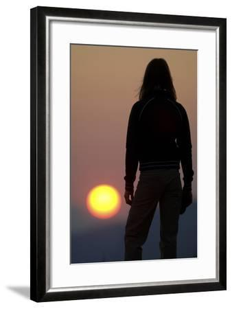 A Female Climber Stands at Sunset in the Cederberg Wilderness Area, South Africa-Keith Ladzinski-Framed Photographic Print
