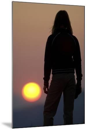 A Female Climber Stands at Sunset in the Cederberg Wilderness Area, South Africa-Keith Ladzinski-Mounted Photographic Print