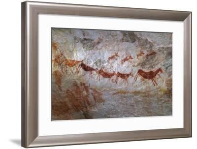 Rock Art on a Rock Wall in the Cederberg Wilderness Area, South Africa-Keith Ladzinski-Framed Photographic Print