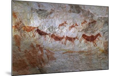 Rock Art on a Rock Wall in the Cederberg Wilderness Area, South Africa-Keith Ladzinski-Mounted Photographic Print