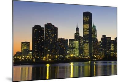 Chicago Skyline at Night-Design Pics Inc-Mounted Photographic Print