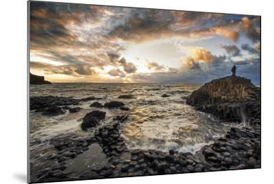 Sunset at the Giant's Causeway in Northern Ireland-Chris Hill-Mounted Photographic Print