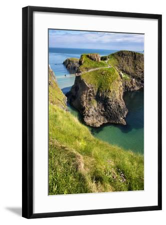 Carrick-A-Rede Rope Bridge in Northern Ireland-Chris Hill-Framed Photographic Print