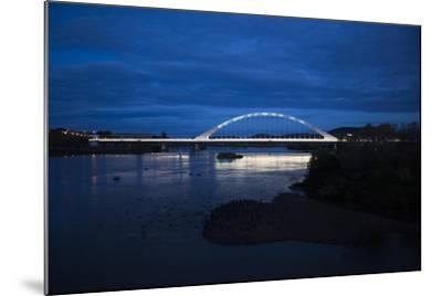 The Lusitania Bridge at Night over the Guadiana River-Macduff Everton-Mounted Photographic Print