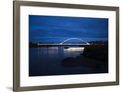 The Lusitania Bridge at Night over the Guadiana River-Macduff Everton-Framed Photographic Print