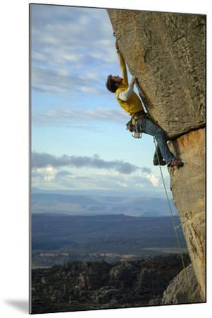 A Man Climbs in the Cederberg Wilderness Area, South Africa-Keith Ladzinski-Mounted Photographic Print