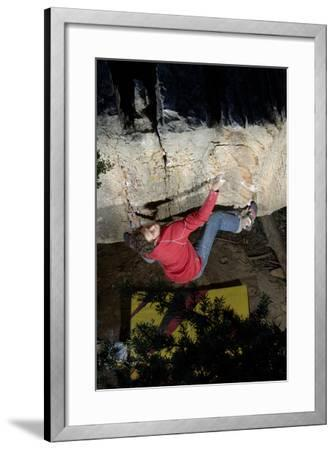 A Man Climbs in the Cederberg Wilderness Area, South Africa-Keith Ladzinski-Framed Photographic Print