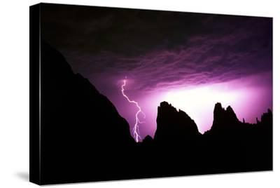 Lightning Strike in Garden of the Gods, Colorado-Keith Ladzinski-Stretched Canvas Print