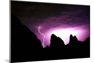 Lightning Strike in Garden of the Gods, Colorado-Keith Ladzinski-Mounted Photographic Print